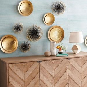NEW Sea Urchins Wall Décor Gold